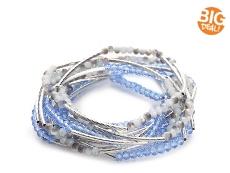 One Wink Glass Bead Stretch Bracelets