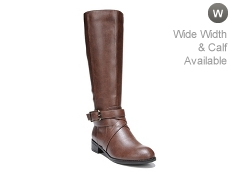 LifeStride Subtle Wide Calf Riding Boot