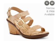 Walking Cradles Lean Cork Wedge Sandal