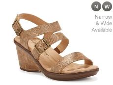 Walking Cradles Lean Metallic Wedge Sandal