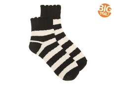 Lucky Brand Striped Scallop Womens Ankle Socks