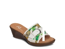 A2 by Aerosoles Eyes On You Pineapple Wedge Sandal