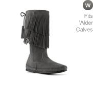 Minnetonka Calf Hi 2 Layer Fringe Western Boot