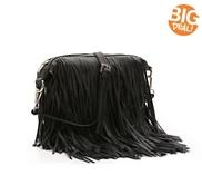 Crown Vintage Fringe Crossbody Bag