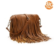 Crown Vintage Fringe Crossbody Bag