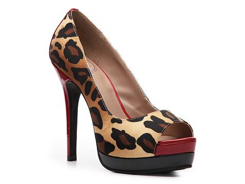 JS by Jessica Edith Leopard Pump Peep Toes Pumps & Heels Women's Shoes - DSW
