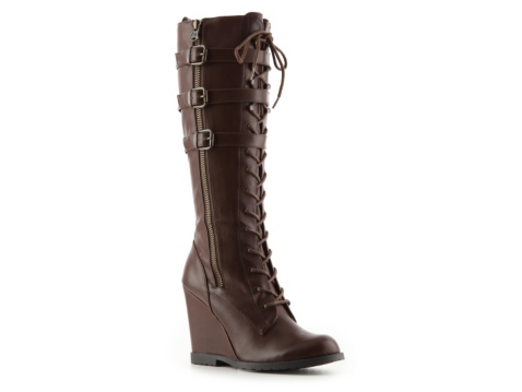 ursela lace up wedge boot dsw