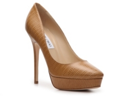 Jimmy Choo Cosmic Reptile Leather Platform Pump
