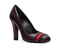 Gucci Leather Web Pump