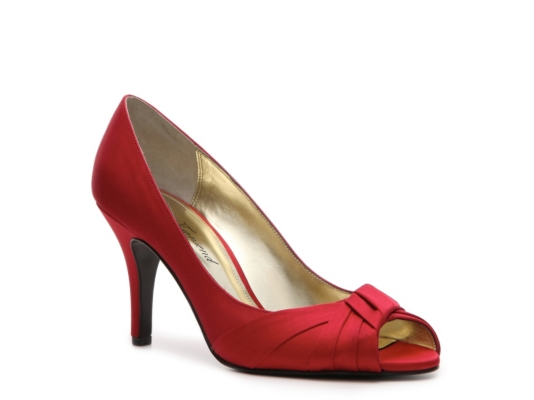 Lulu Townsend Fultan Satin Pump