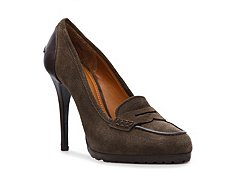 Ralph Lauren Collection Virita Suede Penny Keeper Pump