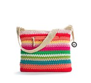 The Sak Classic Striped Crochet Shoulder Bag
