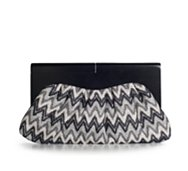 Poppie Jones Zigzag Wooden Clutch
