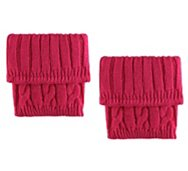 Poppie Jones Pink Cable Boot Cuff