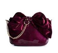 Poppie Jones Velvet Bow Mini Crossbody Bag
