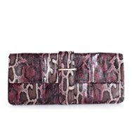 Poppie Jones Colored Snake Tongue Flap Clutch