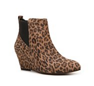 BCBG Paris Rita Leopard Wedge Bootie