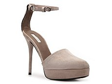 Calvin Klein Collection Daphne Suede Ankle Strap Pump