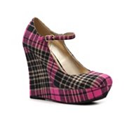G by GUESS Paije Plaid Wedge Pump