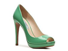 Prada Patent Leather Peep Toe Pump