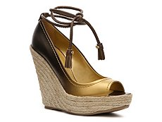 Sergio Rossi Ombre Leather Wedge Pump