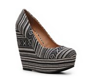 Madden Girl Craftty Printed Wedge Pump