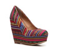 Madden Girl Craftty Multicolor Wedge Pump