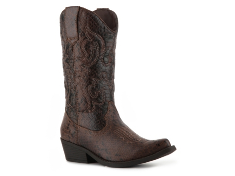 madden sanguine reptile western boot dsw