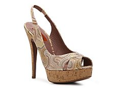 Missoni Metallic Printed Fabric Slingback Pump