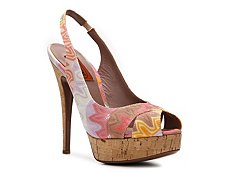 Missoni Pastel Printed Fabric Slingback Pump