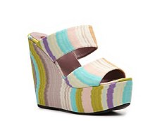Missoni Printed Fabric Wedge Sandal