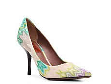 Missoni Printed Fabric Pump