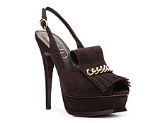 Yves Saint Laurent Suede Kiltie Pump