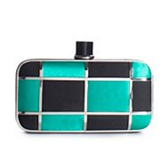 Lulu Townsend Color Block Clutch