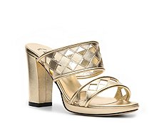 Bally Loysta Metallic Leather Cutout Sandal