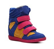 Qupid Patrol-01 Color Block Wedge Sneaker