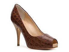 Giuseppe Zanotti Crocodile Leather Peep Toe Pump