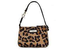 Just Cavalli Leopard Calf Hair Wristlet