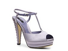 Bally Elfrida Satin Peep Toe Sandal