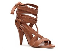 Bally Gill Leather Ankle Wrap Sandal