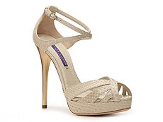 Ralph Lauren Collection Jeanne Reptile Leather Sandal
