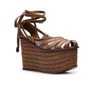 Bottega Veneta Braided Straw Flatform Sandal