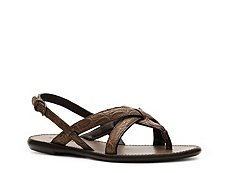 Bottega Veneta Reptile Leather Flat Sandal