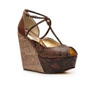Ted Baker Leuzea Reptile Leather Wedge Sandal