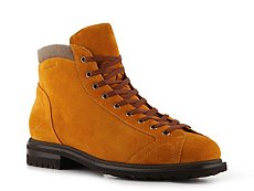 Santoni Suede & Canvas Boot