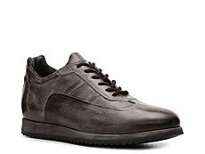 Santoni Burnished Leather Sneaker
