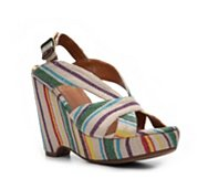 Crown Vintage Realm Striped Wedge Sandal