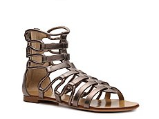 Giuseppe Zanotti Metallic Leather Gladiator Flat Sandal