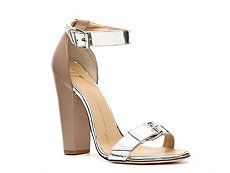 Giuseppe Zanotti Metallic Patent Leather Buckle Sandal