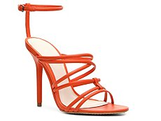 Herve Leger Odette Leather Strappy Sandal